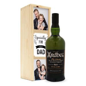 Whisky till fars dag - Present med eget foto
